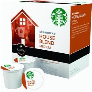 Starbucks House Blend Medium Roast, K-Cup Portion Pack for Keurig K-Cup Brewers, 16-Count
