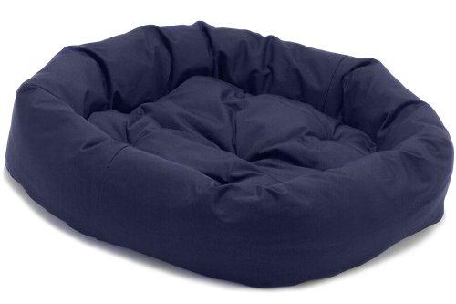 """Dog Gone Smart Bed Canvas Donut Pet Bed, Navy, Large, 42"""""""