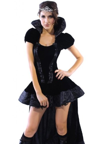 Sexy Queen Dress cosplay wiched Queen Costume Halloween Party Winter Dress