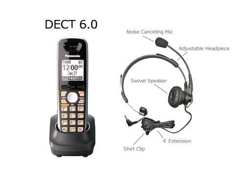 Panasonic Kx-Tga651B Dect 6.0 Plus Accessory Handset With Large Easy To Read Buttons For Kx-Tg4011, Kx-Tg4012, Kx-Tg4013, Kx-Tg4021, Kx-Tg4022, Kx-Tg4023, Kx-Tg4024, Kx-Tg4031, Kx-Tg4032, Kx-Tg4033, Kx-Tg4034, Kx-Tg4052, Kx-Tg4053, Kx-Tg4054, Kx-Tg4073, K