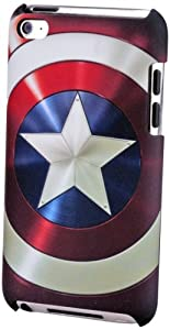 Performance Designed Products IP-1383 Marvel Captain America Shield Clip Case for iPod Touch 4 - 1 Pack - Retail Packaging - Assorted