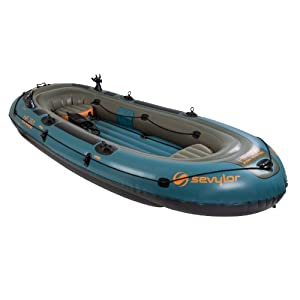 Coleman Company Sevylor 6 Person Fish Hunter Inflatable Boat, Green Yellow by Coleman