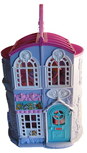 Fisher Price Sweet Streets Pet Parlor with Vet Center Blue with Pink Roof 9 1/4