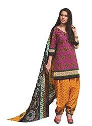 Design Willa Cotton Dress Material Saree (DW0291)