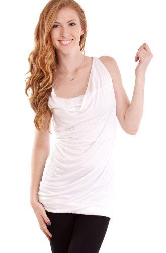 Drape Front Sleeveless Shirt Crossover Front m6whNDwCjs