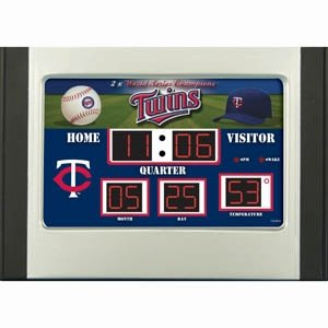 Minnesota Twins Scoreboard Desk & Alarm Clock by Hall of Fame Memorabilia