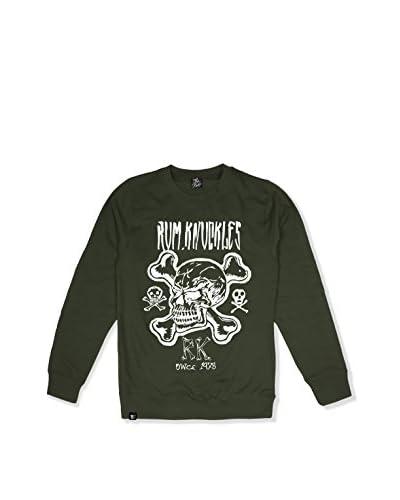Rum Knuckles Sweatshirt Cross Bones khaki