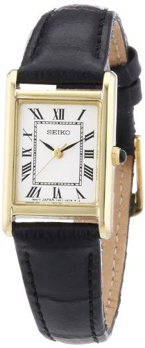 Seiko SXGN56P1 - Orologio da polso donna, pelle, colore: nero