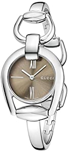 Gucci Women's YA139501 Gucci Horsebit Collection Analog Display Swiss Quartz Silver Watch