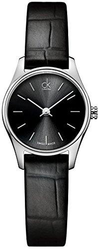 Calvin Klein ck classic K4D231C1 - Reloj analógico de cuarzo para mujer, correa de cuero color negro