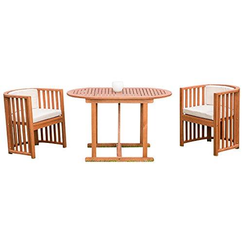 Balkongarnitur-BRASILIA-7-teilig-2x-Sessel-1x-Tisch-70x120cm-oval-mit-Auflagen-hell-FSC-zertifiziert