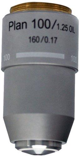 National Optical 799-160P 100Xr Din Plan Achromat Objective Lens, N.A. 1.25, For 160 Microscopes