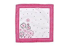 Riqueza Women Handkerchief (Pack Of 1) (RWBH 39_Pink_Free Size)