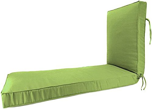 Reviewvasii box edge deluxe chaise outdoor cushion for Box edge chaise cushion