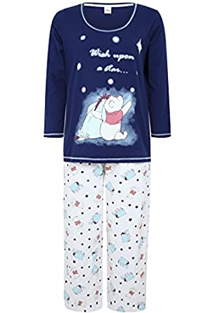 Yoursclothing Plus Size Womens Jersey Disney Eeyore And Winnie Pj Set ...