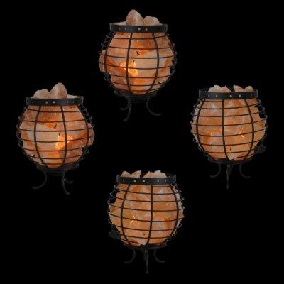 4 Himalayan Salt Lamp Royal Baskets