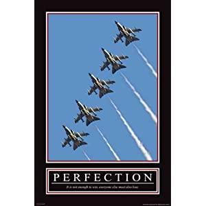 Perfection Motivational Poster on Perfection Poster Gro  Format Motivational  Amazon De  B  Robedarf