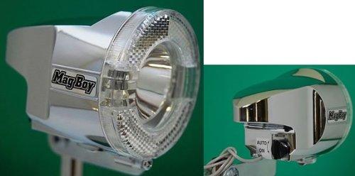 ハブダイナモ付アルミホイール24インチ  前面リフレクター付ヘッドライト、LED3灯搭載。カラー:CP D-3AL