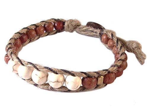 artisan-handgefertigt-armband-weiss-howlite-stein-messing-holz-beads-hanf-schnur-unisex