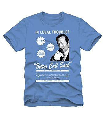 Breaking Bad Better Call Saul Blue Mens T-shirt Large, Blue)