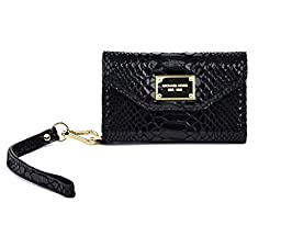 Michael Kors Wallet Clutch Black Python