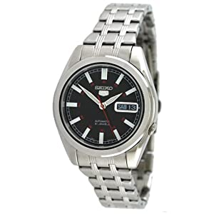 Seiko Men's SNKH09 Seiko 5 Automatic Black Dial Stainless Steel Watch