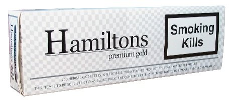 Hamiltons Premium Gold Herbal Cigarettes 200's