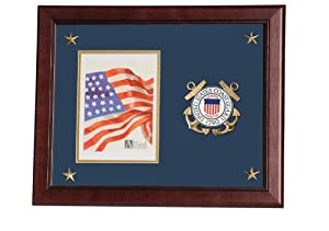 Allied Frame United States Coast Guard Vertical Picture Frame with Medallion and Stars