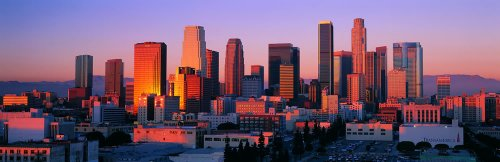 Panoramic Wall Decals - Los Angeles Skyline 1 (4 Foot Wide Removable Graphic) front-1056181