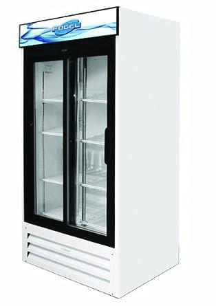sliding glass door refrigerator 2 doors and 8 shelves 33