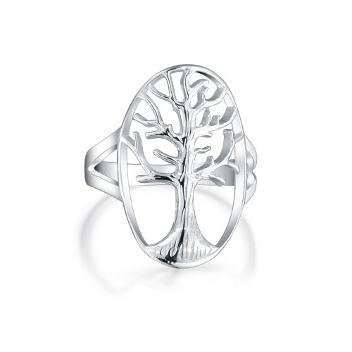 Bling Jewelry Sterling Silver aperto Tree of Life Anello