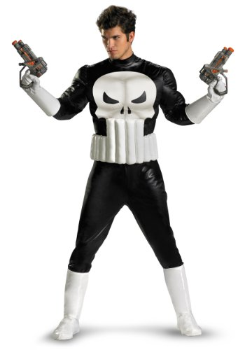 Disguise Mens Movie Characters Punisher Theme Party Fancy Dress Costume