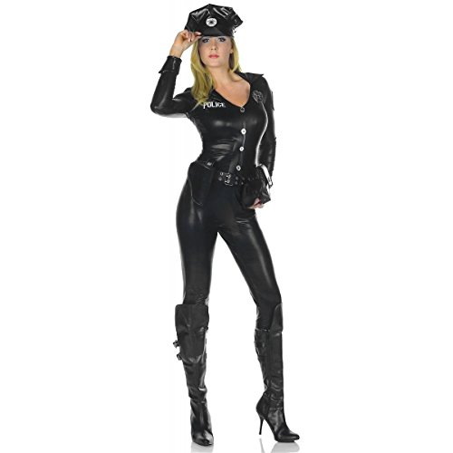[GSG Sexy Cop Costume Adult Police Woman Halloween Fancy Dress] (Police Chief Child Hat)