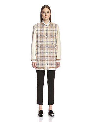 Chloé Women's Wool Plaid Coat