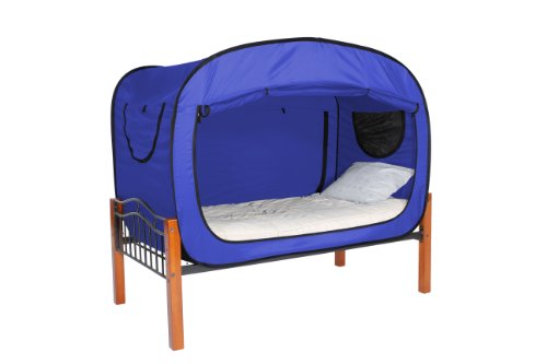 privacy pop bed tent twin blue furniture beds accessories beds. Black Bedroom Furniture Sets. Home Design Ideas