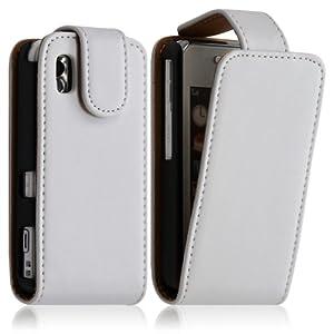 Housse coque etui pour Samsung Player One S5230 couleur blanc + Film protecteur