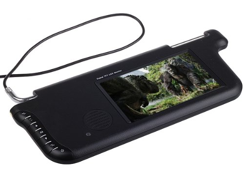 Generic Black Left Sun Visor Tft Lcd Car Monitor - Dual Av, For Dash Dvd Gps Player