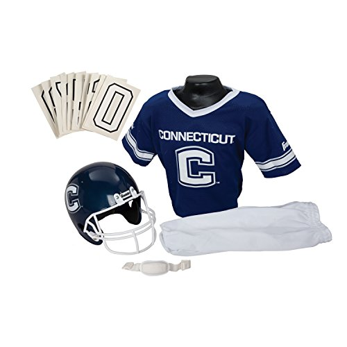 Franklin Sports NCAA Connecticut Huskies Deluxe Youth Team Uniform Set, Medium (Ncaa Football 2010 compare prices)