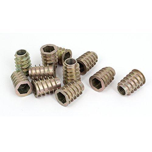 sourcingmapr-legno-m10x25mm-chiave-a-bussola-esagonale-vite-in-filato-zincato-inserto-noci-11pcs