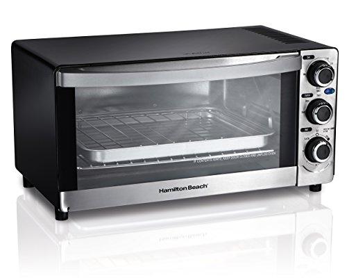 Hamilton Beach 6-Slice Capacity Large Countertop Toaster Oven, Silver   31408 (Hamilton Beach Tray compare prices)