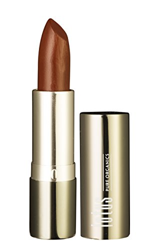 Lotus pure organics. Natural Lipstick - Spice, Fashionable Colors, Long lasting, Gluten Free, Cruelty Free, Lead Free, Non-Toxic Chemicals, Enriched with Vitamin E, Smooth and moisturized. (Spice)