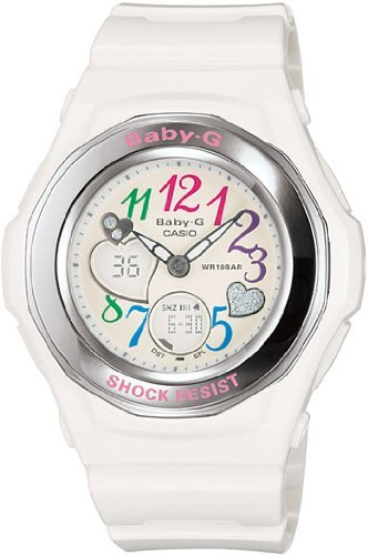 Casio Women's White Baby-G Shock Analog Digital Strap Casio