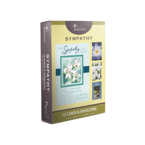 12 Pack Boxed Set Flower Sympathy Cards Bulk with KJV Scripture – Flowers Greeting Cards for Her for Him Floral