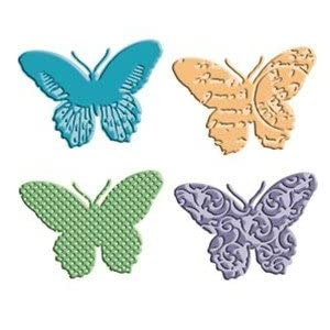 Provo Craft Cuttlebug A2 Tag Team Dies-Butterflies 4 Styles