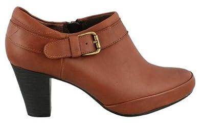 Clark' Sapphire June Shooties Tan Leather Womens Boots 8w