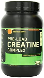 Optimum Nutrition Pre-Load Creatine Complex, Mandarin Orange, 4 Pound