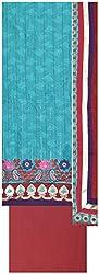 Laxmi Creations Women's Silk Unstitched Dress Material (Sky Blue)