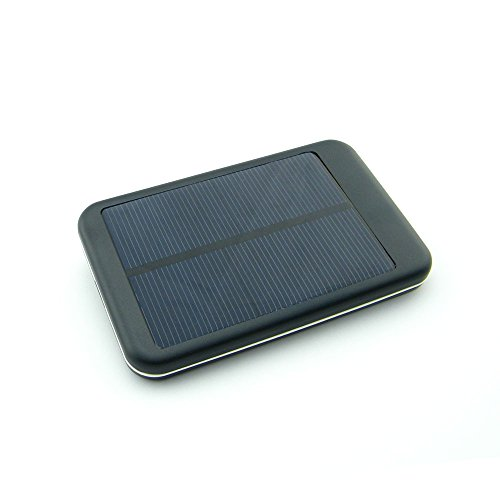 Generic 5000mAh Solar Battery Charger for Smartphone,IPhone4/4S,Samsung and Other Digital Devices-Black