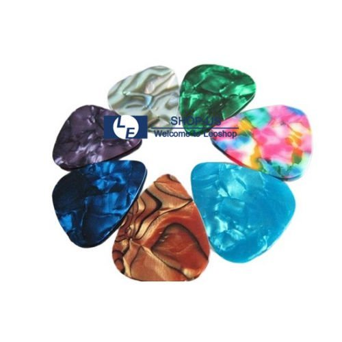 New 100pcs Guitar Picks Acoustic Electric Plectrums Celluloid Assorted Colors (Carbon Fiber Case Guitar compare prices)