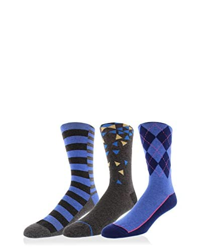 Joe's Men's 3-Pack Pattern Crew Socks, Multi, One Size
